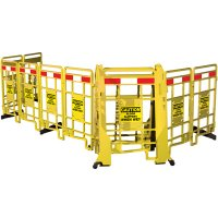 Seton EasyProtect™ Folding Barricade - Caution Floor Slippery
