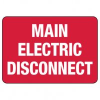 Main Electric Disconnect Sign