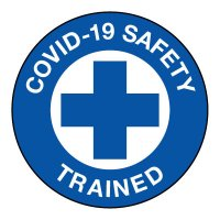 COVID-19 Safety Trained Hard Hat Label