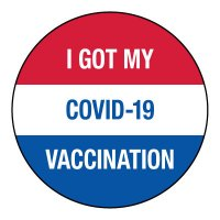 I Got MY COVID-19 Vaccination Hard Hat Label