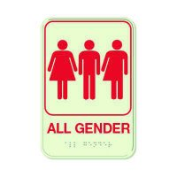 All Gender - Glo Brite Braille Signs