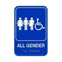 All Gender Restroom Sign - Wheelchair Accessible
