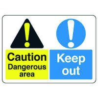 ANSI Multi-Message Safety Signs - Caution Dangerous Area Keep Out