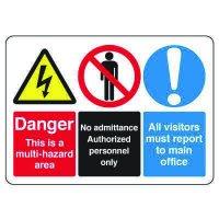 Multi-Hazard Area Danger Sign