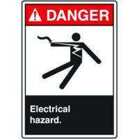 ANSI Safety Signs - Danger Electrical Hazard