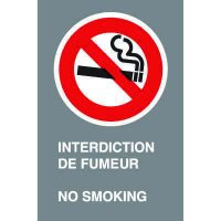 Bilingual CSA Signs - Interdiction De Fumeur No Smoking