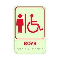 Boys (Accessibility) - Glo Brite Braille Signs