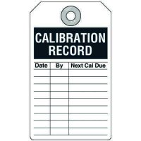 Calibration Record Inspection Tag