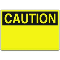 Admittance Signs - Caution Header Only