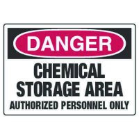 Chemical Hazard Danger Sign - Chemical Storage Area