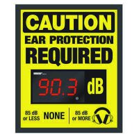 Decibel Meter Sign Kit - Ear Protection (Earmuffs Symbol)