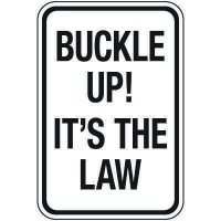 Reflective Traffic Reminder Signs - Buckle Up!