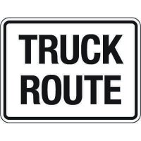Reflective Traffic Reminder Signs - Truck Route