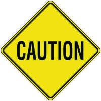Reflective Warning Signs - Caution