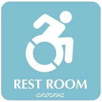 Restroom Sign w/ Wheelchair Symbol (Dynamic Accessibility)