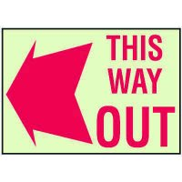 Luminous Path Marker Signs - This Way