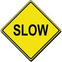Reflective Warning Signs - Slow