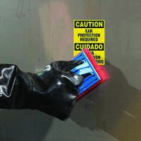 ToughWash® Labels - Caution Ear Protection (Bilingual)