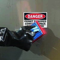 ToughWash® Labels - Danger Confined Space Permit Required
