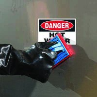 ToughWash® Labels - Danger Hot Water