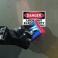 ToughWash® Labels - Danger Lock Out Electricity