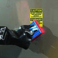 ToughWash® Labels - Do No Operate Without Guards (Bilingual)