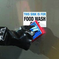 ToughWash® Labels - Food Wash Only Sink