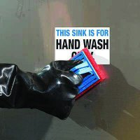ToughWash® Labels - Hand Wash Only Sink