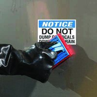 ToughWash® Labels - Notice Do Not Dump Chemicals