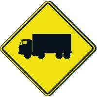 Reflective Warning Signs - Truck Symbol