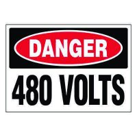 Ultra-Stick Signs - Danger 480 Volts