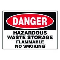 Ultra-Stick Signs - Danger Hazardous Waste Storage