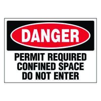 Ultra-Stick Signs - Danger Permit Required