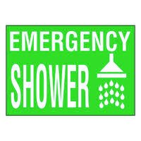 Ultra-Stick Signs - Emergency Shower
