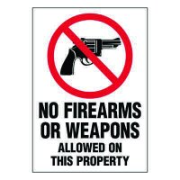 Ultra-Stick Signs - No Firearms Allowed