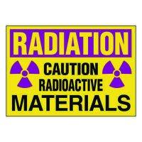 Ultra-Stick Signs - Radioactive Materials