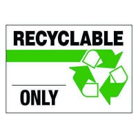 Ultra-Stick Signs - Recyclable Only