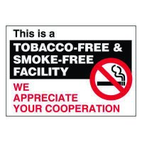 Ultra-Stick Signs - This Is A Tobacco-Free Facility