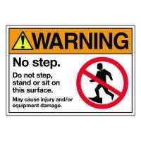 Ultra-Stick Signs - Warning No Step