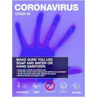 Coronavirus Safety Posters - Make Sure You Use Soap & Water/Hand Sanitizer