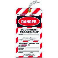 Danger Equipment Tagged Out Tag