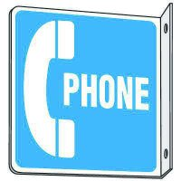 2-Way Sign - Phone (W/Graphic)