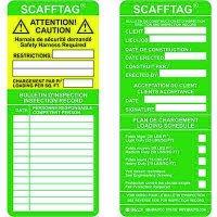 Scaffold Inspection French/English Scafftag Insert