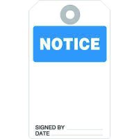 Notice Accident Prevention Tag