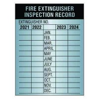 Aluminum Fire Extinguisher Inspection Labels - 2021-2024