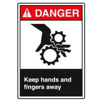 ANSI Z535 Safety Sign - Danger Keep Hands and Fingers Away