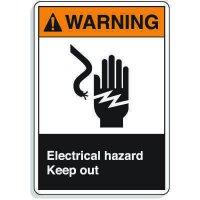 ANSI Z535 Safety Signs - Warning Electrical Hazard