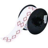 Brady B30-260-7569-CLP4A B30 Series Label - Red on White