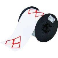 Brady B30-262-7569-CLP3A B30 Series Label - Red on White