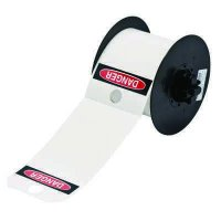 Brady B30-255-551-OSHADA B30 Series Label - Black/Red on White